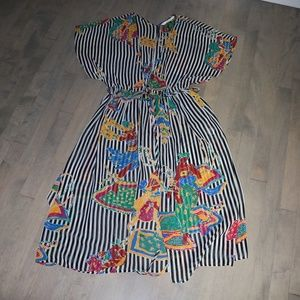 ZARA Striped Colorful Sheer Dress